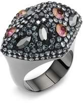 Swarovski Moselle Ring, Black rhodium plating