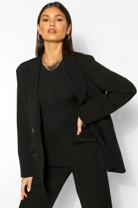 boohoo Tailored Double Breasted Button Blazer