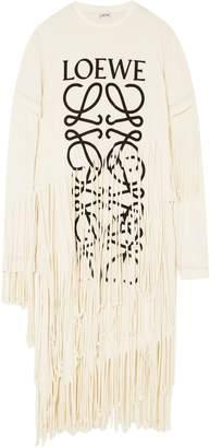 Loewe Oversized Cutout Cotton-poplin Shirt