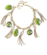 Brooks Brothers Stone and Tassel Charm Bracelet