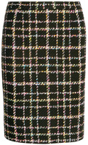 Moschino Wool-blend Bouclé-tweed Skirt - Black