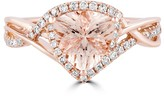 Effy Jewelry Effy Blush 14K Rose Gold Morganite and Diamond Ring, 1.56 TCW