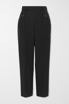 Maison Margiela Cropped Twill Straight-leg Pants - Black