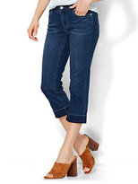 New York & Co. Soho Jeans Curvy Crop - Driven Blue Wash