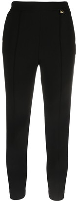 Elisabetta Franchi Cropped Slim-Cut Trousers