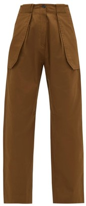 Wales Bonner Jose Wide-leg Cotton-blend Cargo Trousers - Beige