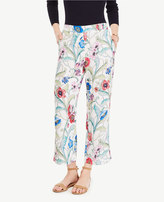 Ann Taylor The Petite Wide Leg Crop Pant in Jungle Floral