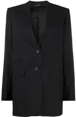 Givenchy Single-Breasted Collarless Blazer