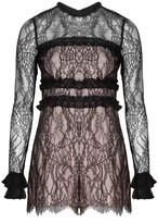 Alexis Elise Romper Black Lace