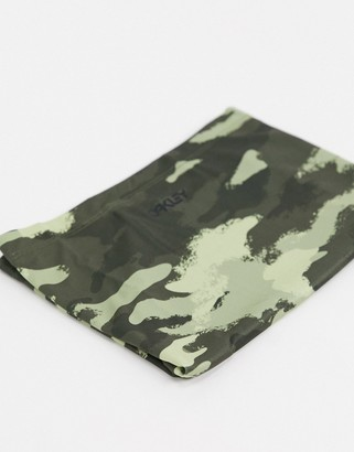 Oakley neck gaiter in green camo