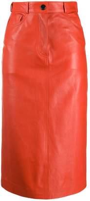 Paul Smith leather pencil skirt