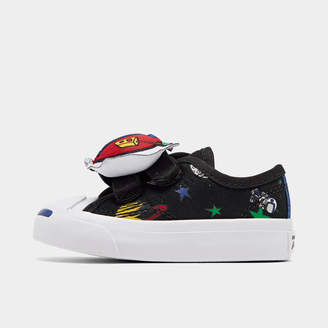 Converse Boys' Toddler Jack Purcell Space Pack Hook-and-Loop Casual Shoes