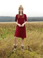 Shabby Apple Melody Maroon Dress