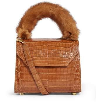 Nancy Gonzalez Crocodile and Mink Lily Top-Handle Bag
