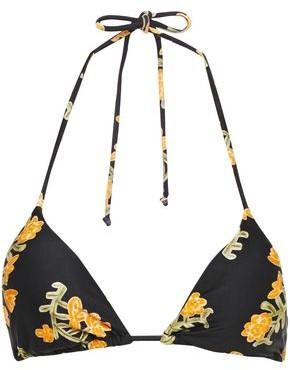 Vix Paula Hermanny Floral-print Triangle Bikini Top