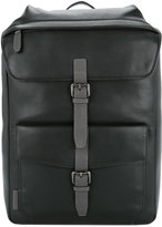 Cerruti buckle strap backpack
