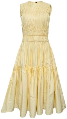 Roksanda Yellow Cotton Dresses