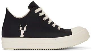Rick Owens Black Grosgrain Low Sneakers