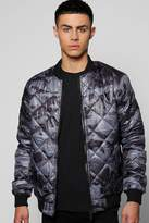 Boohoo Camo Quilted Padded Bomber
