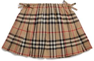 Burberry Kids Check Pleated Skirt