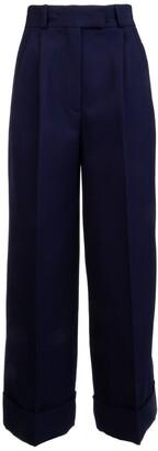 Miu Miu Wide-Leg Cuffed Trousers