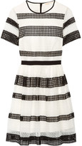 MICHAEL Michael Kors Paneled Crocheted Lace Mini Dress - White