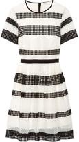 MICHAEL Michael Kors Paneled Crocheted Lace Mini Dress - White