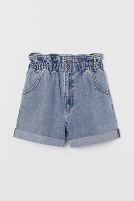 H&M Denim paper bag shorts