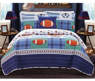 Chic Home Kilroy Reversible Sports Quilt Set