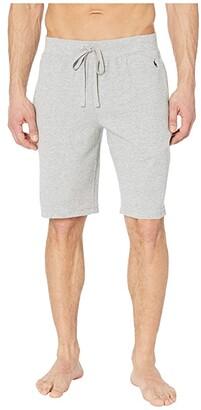 Polo Ralph Lauren Midweight Waffle Sleep Shorts (Andover Heather/Polo Black Pony Print) Men's Pajama