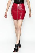 Timeless Vinyl Red Skirt