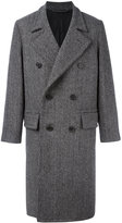 Ami Alexandre Mattiussi double breasted long coat - men - Other fibres/Virgin Wool/Polyimide - 42