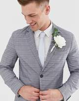 Jack & Jones Premium slim fit suit jacket in grey check
