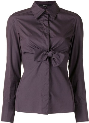 Gucci Pre-Owned Bow Detail Button-Up Shirt