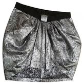 Isabel Marant Silver Silk Skirt