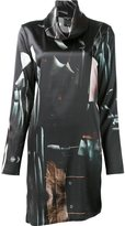 Ann Demeulemeester abstract print shift dress
