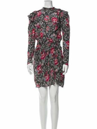 Etoile Isabel Marant Silk Knee-Length Dress Black