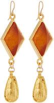 Devon Leigh Golden Amber Double-Drop Earrings
