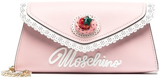Moschino Icing-effect clutch bag