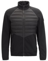 HUGO BOSS - Slim Fit Golf Jacket With Down Filled Panels - Black