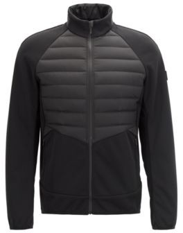Slim-fit golf jacket with down-filled panels