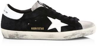 Golden Goose Men's Superstar Black Ice Low-Top Suede Sneakers