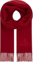Vivienne Westwood Embroidered logo wool scarf