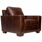 Asstd National Brand Ellie Distressed Leather Chair