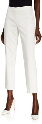 St. John Stretch Micro-Ottoman Capri Pants