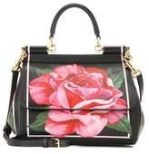 Dolce & Gabbana Sicily Small printed leather shoulder bag