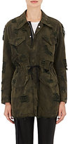 Ben Taverniti Unravel Project Women's Camouflage-Print Coated-Canvas Parka Jacket