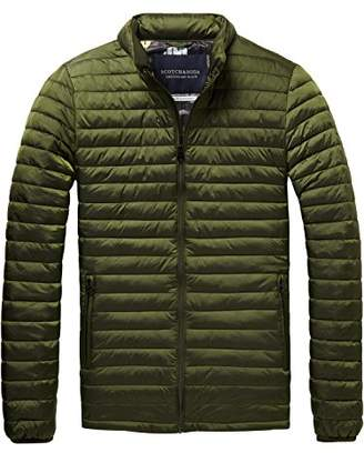 Scotch & Soda Men's Simple Quilted Fake Down Jacket Jacket, Green (Military 0j)