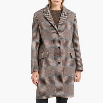 soeur Axelle Checked Wool Mix Coat