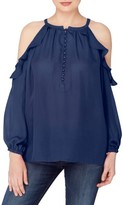 Catherine Malandrino Women's Wynn Cold Shoulder Blouse